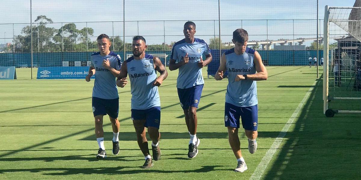 Grêmio fez treinos físicos nesta terça-feira