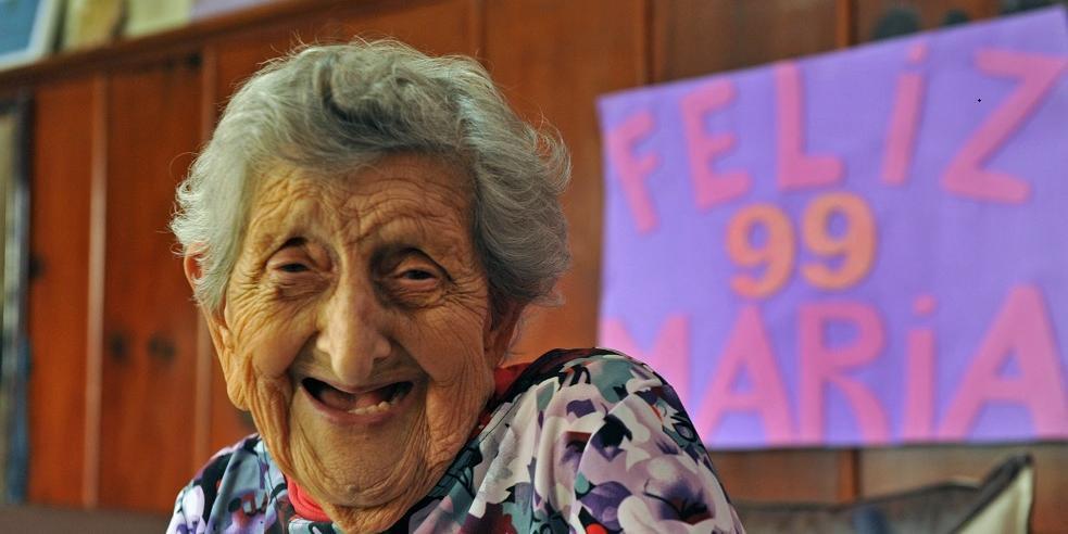 Dona Maria já está fazendo planos para comemorar o centenário