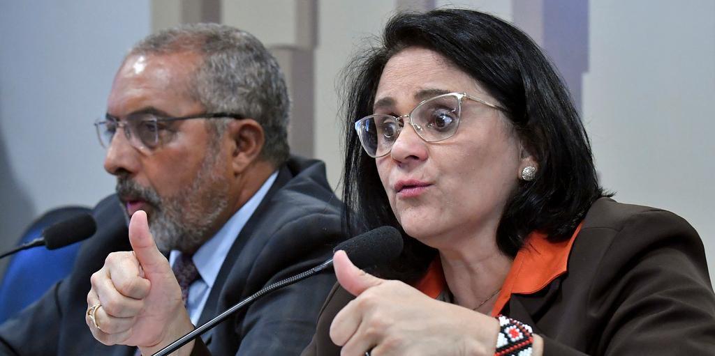 Ministra Damares Alves falou na Comissão de Direitos Humanos do Senado sobre os desafios da pasta