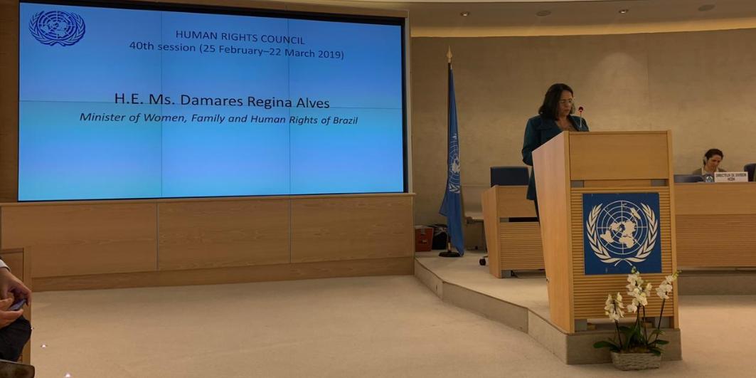 Ministra falou na abertura do Segmento de Alto Nível da 40ª sessão do Conselho de Direitos Humanos das Nações Unidas