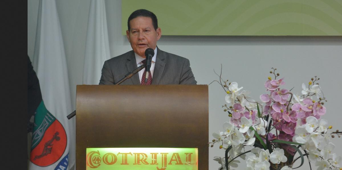 Vice-presidente Hamilton Mourão discursou na abertura da Expodireto em Não-Me-Toque
