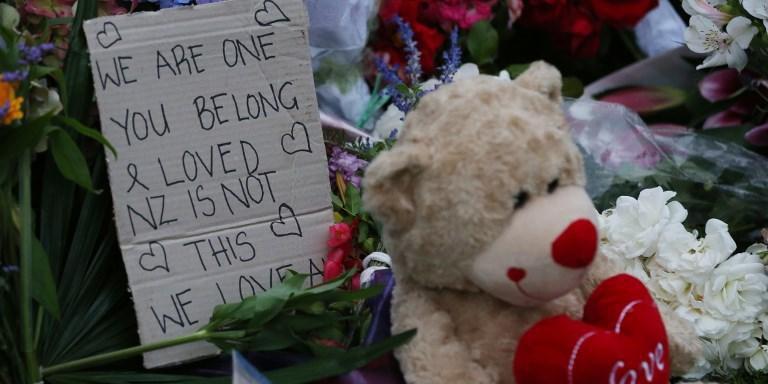 Memorial foi feito em homenagem a vítimas de massacre na Nova Zelândia