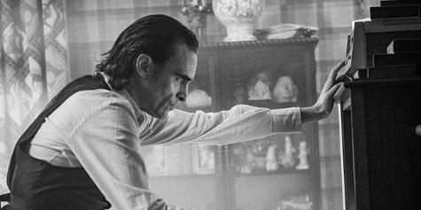 Joaquin Phoenix durante filmagem do filme