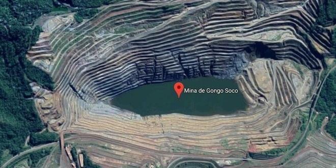 A barragem Sul Superior fica na Mina Gongo Soco, da Vale