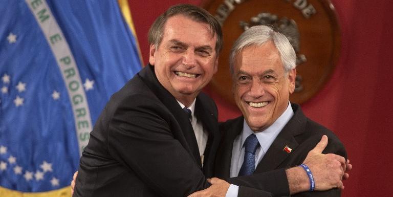 Piñera disse que Bolsonaro recebeu mandato de devolver ao Brasil mais progresso e menos corrupção