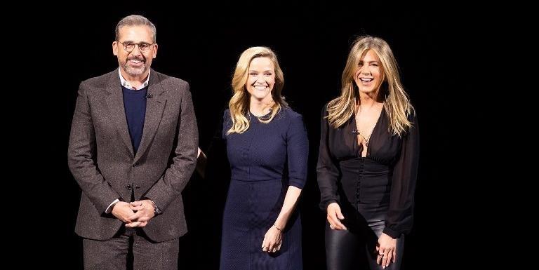 Steve Carell, Reese Witherspoon e Jennifer Aniston apresentaram o programa