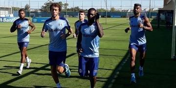 Marinho participou de trabalho físico do Grêmio