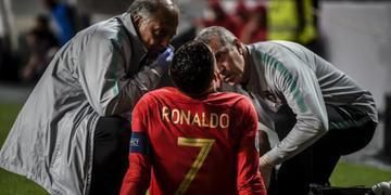 Cristiano Ronaldo deixou jogo ainda no primeiro tempo