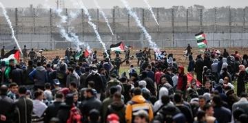 Milhares de palestinos se reuniram perto da fronteira israelense na Faixa de Gaza, onde já foram registrados confrontos, para protestar, correndo o risco de uma escalada com o Estado judeu