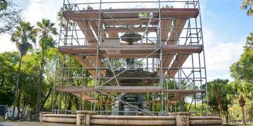 Orçado em R$ 500 mil, o trabalho iniciou em março e deve ser entregue à comunidade entre abril e maio
