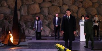 Presidente visitou o centro de Memória do Holocausto