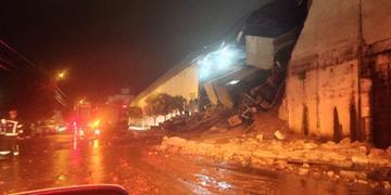 Muro da 6ª Brigada de Infantaria Blindada caiu devido ao temporal