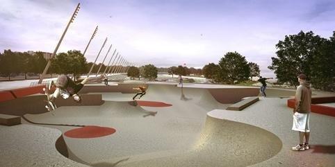 Pista de skate está contemplada no projeto