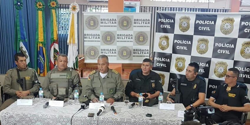 Representantes da Polícia Civil e da Brigada Militar detalham operação