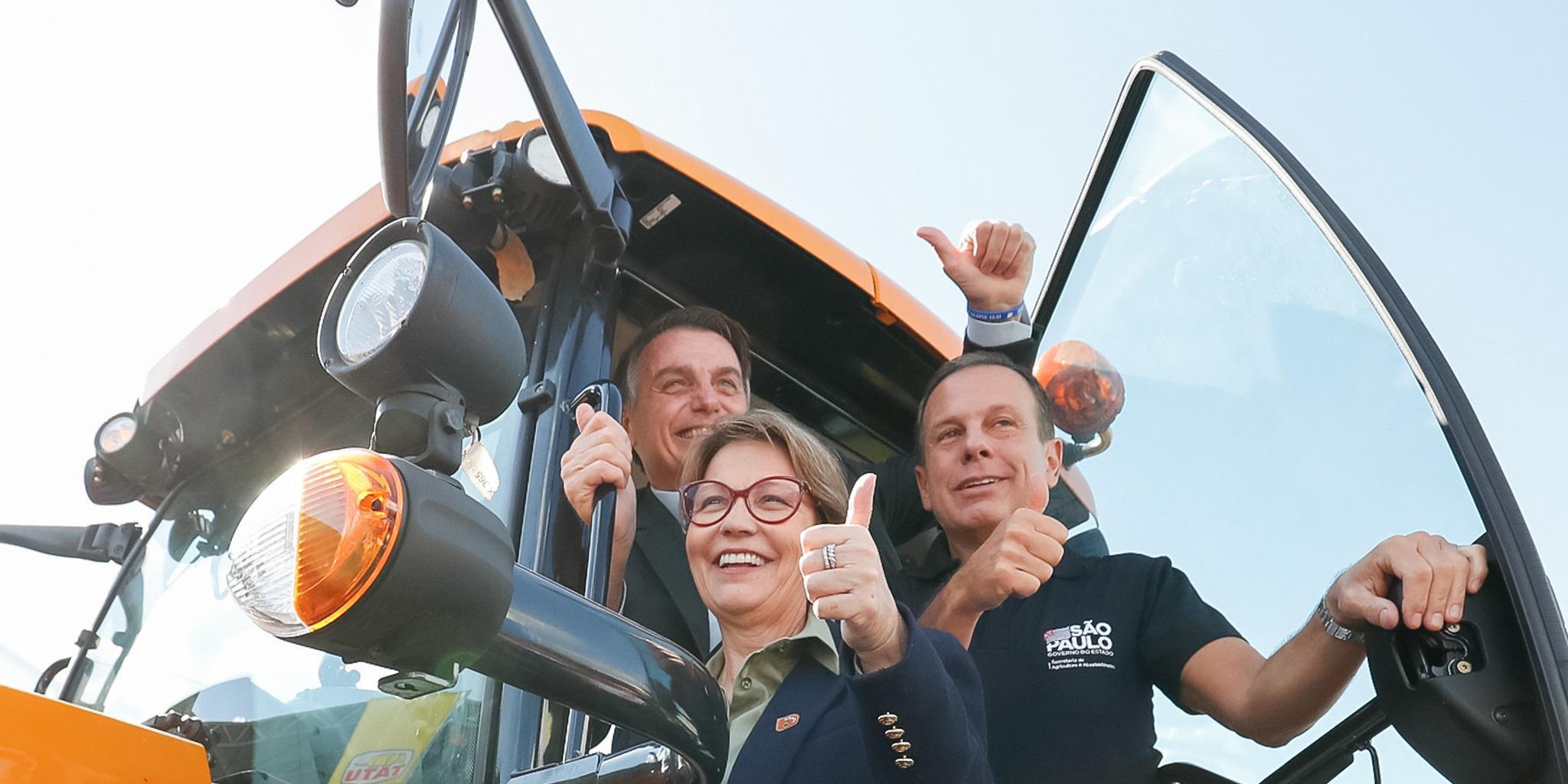 Anúncio foi feito pelo presidente Jair Bolsonaro e pela ministra da Agricultura, Tereza Cristina