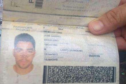 Passaporte de Gabriel Diniz foi encontrado no local da queda do avião