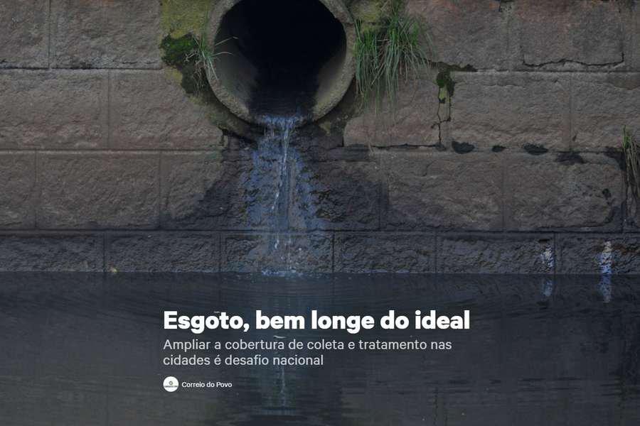 Matéria especial retrata o desafio do saneamento básico no Brasil