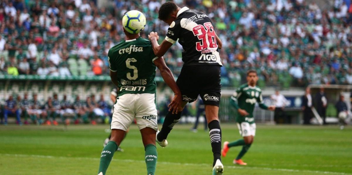 Vasco e Palmeiras empataram em 1 a 1 no Allianz Parque