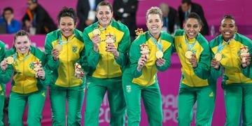 Meninas do Handebol brilharam contra a Argentina e ficaram com o ouro