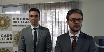 Delegados Eduardo Amaral e Rodrigo Bozzetto coordenam investigação
