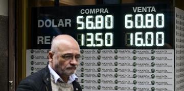 Dólar fechou dia cotado a 59,5 pesos, com alta de 2,8%