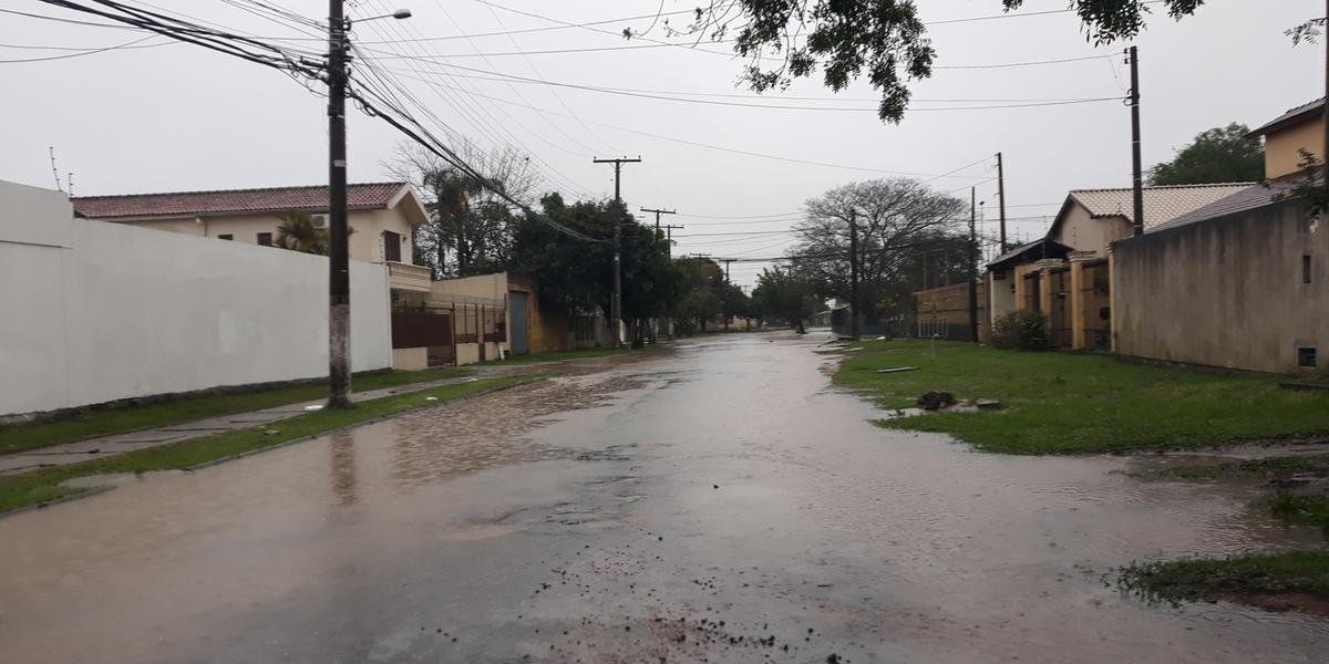 Pelotas foi a cidade que mais registrou pontos de alagamentos nesta quarta-feira