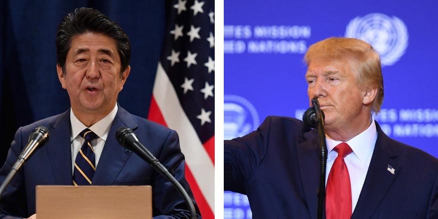 Donald Trump, acompanhado de Shinzo Abe, classificou etapa como