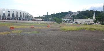 Área prevista para o futuro Centro de Eventos de Porto Alegre é ao lado do estádio Beira-Rio
