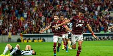 O garoto Reinier marcou na vitória do Flamengo sobre o Atlético-MG por 3 a 1