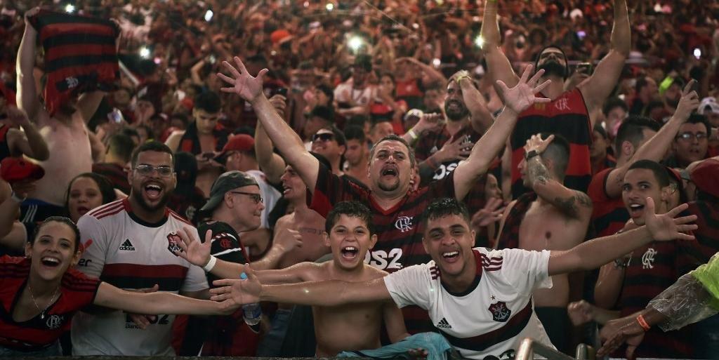 Torcida do Flamengo lotou o Maracanã durante a final da Libertadores