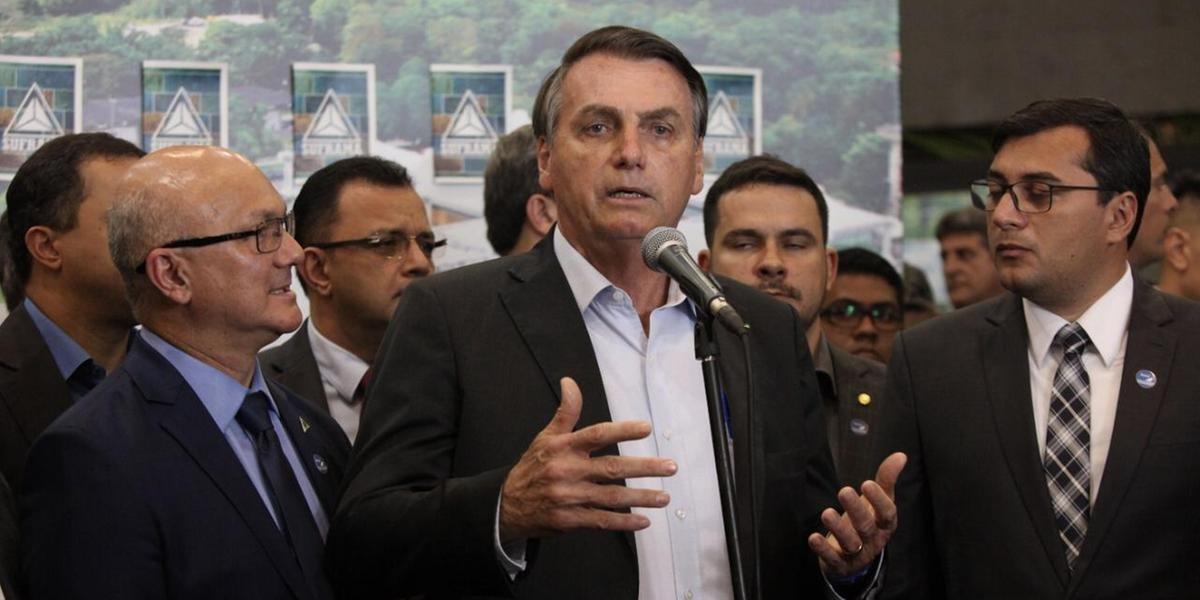 Bolsonaro participou da abertura de um evento de sustentabilidade em Manaus
