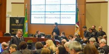 Desembargadores estiveram reunidos na tarde desta segunda-feira para eleger a nova direção do Poder Judiciário gaúcho