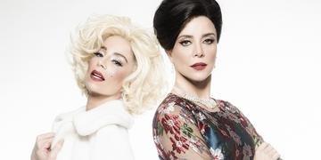 Na peça, Danielle Winits dá vida a Marilyn Monroe e Christine Fernandes interpreta Maria Calas
