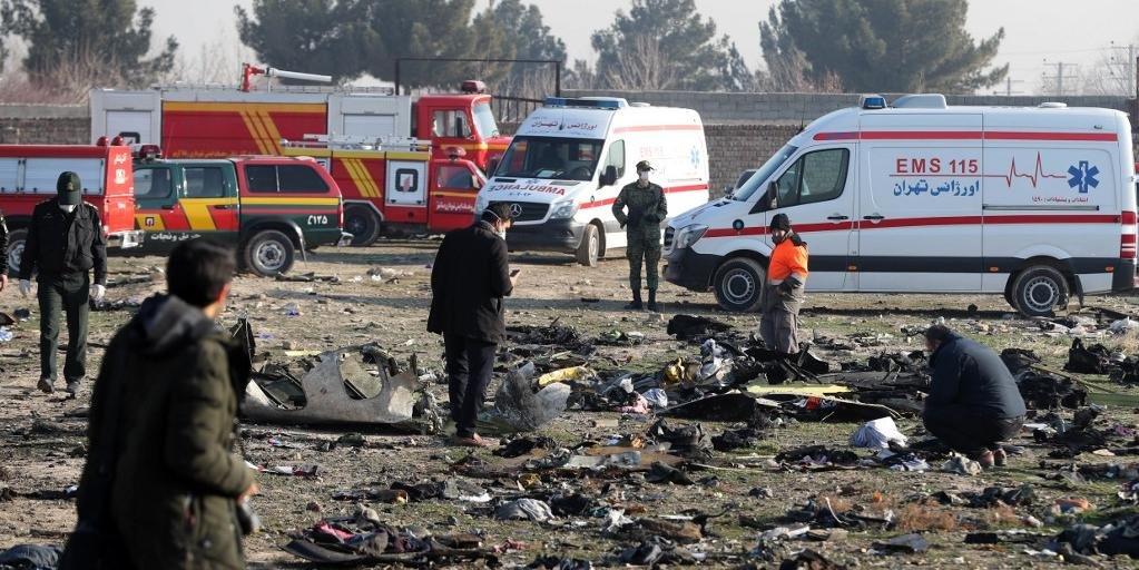 Avião teria sido derrubado por mísseis iranianos
