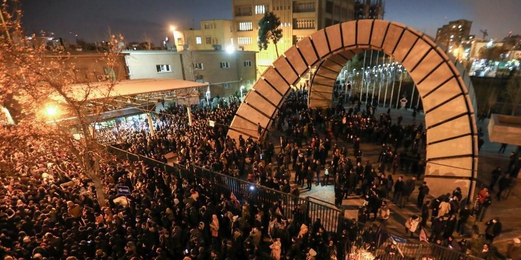 Protestos contra o governo ocorreram na capital Teerã