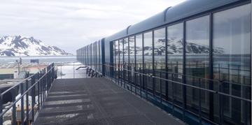 Novo prédio, que fica na ilha Rei George, na Bahia do Almirantado, está sendo erguido ao lado da atual base