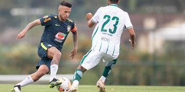 Matheus Henrique foi o único jogador da dupla Gre-Nal que iniciou entre os titulares da Seleção