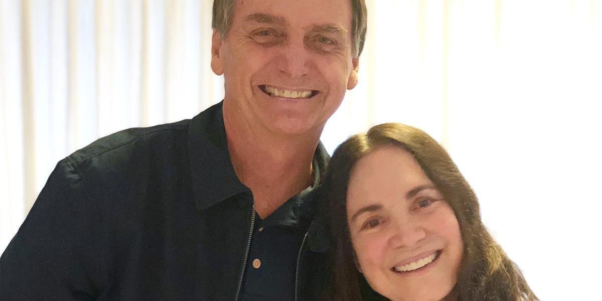 Bolsonaro e Regina Duarte devem se encontrar nesta segunda-feira, no Rio de Janeiro