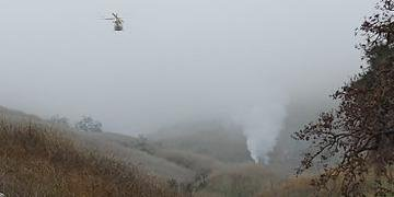 Helicóptero caiu em Calabasas, próximo a Los Angeles