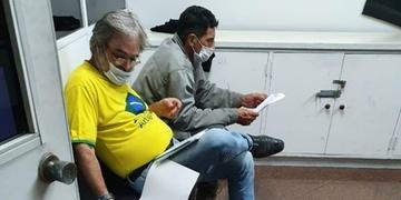 Antônio e Jurandir eram parte do grupo de manifestantes pró-Bolsonaro que fez um protesto no último 2, em frente ao prédio onde mora o ministro