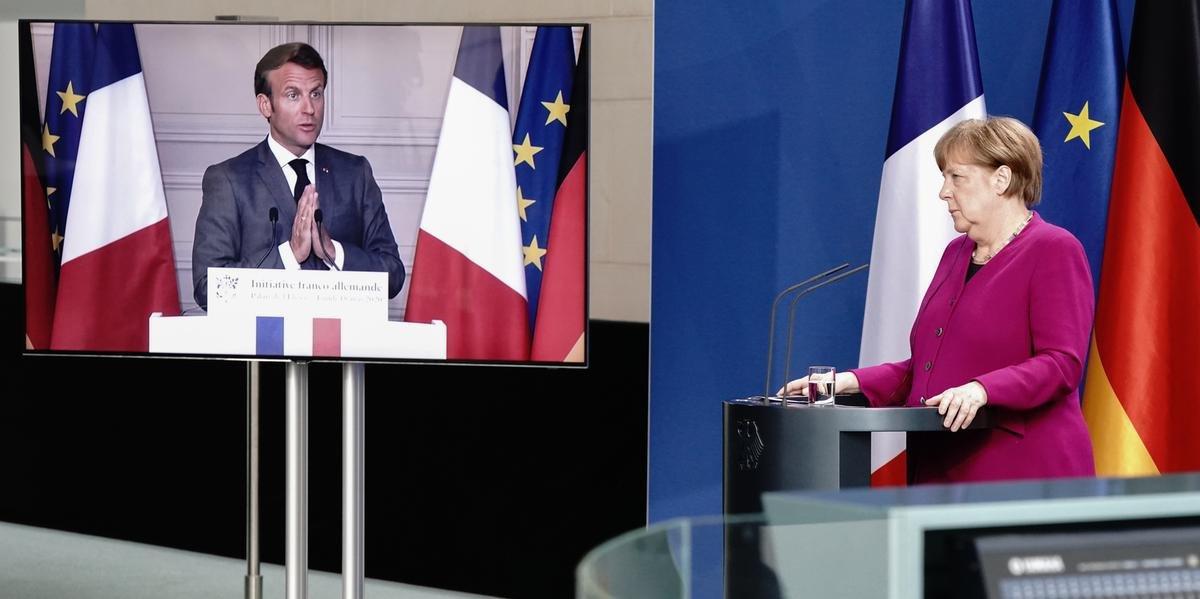 Macron e Merkel sugeriram que a Comissão Europeia apoie e financie países atingidos pela pandemia