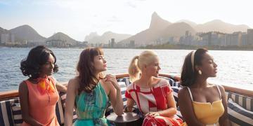 Pathy Dejesus, Maria Casadevall, Mel Lisboa e Larissa Nunes na segunda temporada de 'Coisa Mais Linda'.