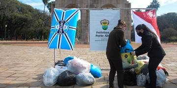 Gre-Nal da solidariedade recolheu doações para distribuir para famílias em vulnerabilidade social