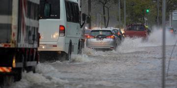 Porto Alegre teve vários locais com alagamentos devido as chuvas