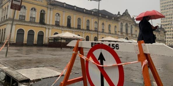 Bolsões de estacionamento já estão interditados