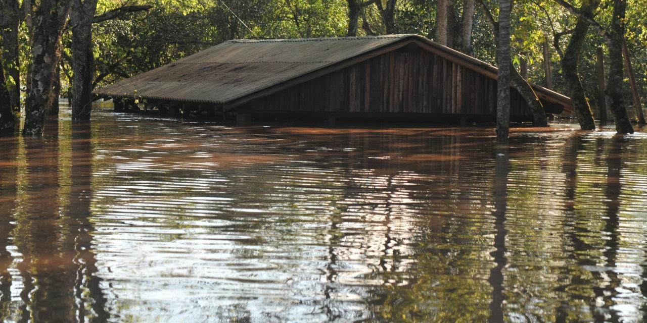 Nível do Rio Caí, o principal afluentes do Guaíba, alcançou quase 15 metros nesta quinta-feira