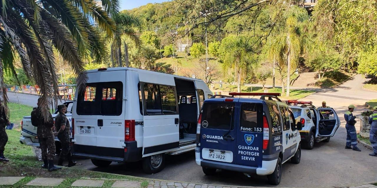 Ação atuou contra aglomerações em parques e praças de Caxias do Sul