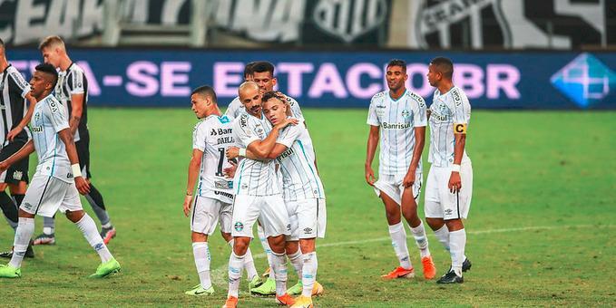 Thaciano marcou gol que garantiu empate do Grêmio em 1 a 1 diante do Ceará
