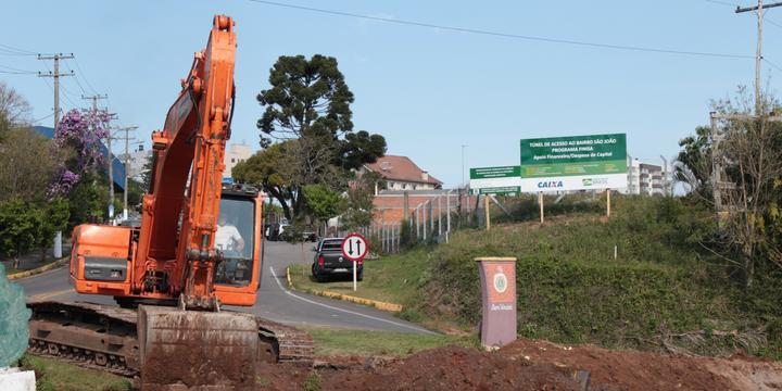 Inicia construção de túnel que liga bairro ao centro de Bento Gonçalves