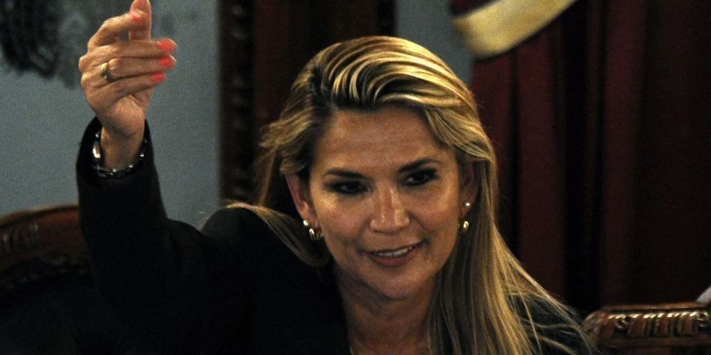 Jeanine pediu união contra o MAS, cujo candidato está em primeiro lugar nas pesquisas de opinião